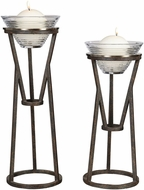 Uttermost 18980 Lane Modern Aged Oil Rubbed Bronze Iron Candleholders (set of 2)