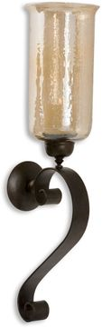 Uttermost 19150 Joselyn Contemporary Antiqued Bronze Candle Sconce
