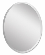 Uttermost 19580-B Frameless Small 28 Inch Tall Oval Mirror