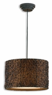 Uttermost 21103 Knotted Hand Rubbed Espresso 19 Inch Diameter Drum Pendant Light