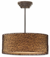Uttermost 21153 Brandon Pendant Light in Rust Brown