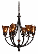 Uttermost 21227 Vitalia Medium Bronze 29 Inch Diameter 6 Light Chandelier Lamp