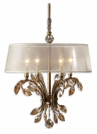 Uttermost 21245 Alenya Small 20 Inch Diameter Burnished Gold 4 Light Chandelier