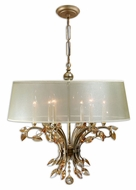 Uttermost 21246 Alenya 29 Inch Diameter Large Burnished Gold Finish Vintage Chandelier