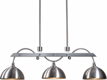 Uttermost 21265 Malcolm Vintage Satin Nickel Island Lighting