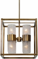 Uttermost 21282 Marinot Modern Antique Brass Foyer Lighting