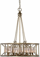 Uttermost 21306 Ghiaccio Contemporary Silver Swedish Iron Halogen Pendant Lighting Fixture