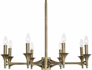 Uttermost 21316 Brant Aged Brass Chandelier Lighting