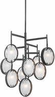Uttermost 21317 Maxin Contemporary Dark Hammered Bronze Lighting Chandelier