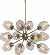Uttermost 21325 Chet Contemporary Antique Brass Chandelier Light