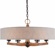 Uttermost 21331 Woodall Dark Bronze / Antique Brass Chandelier Lighting
