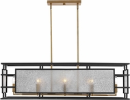 Uttermost 21343 Holmes Modern Black and Antique Brass Island Lighting