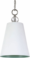 Uttermost 21515 Delray High Gloss White Hanging Lamp