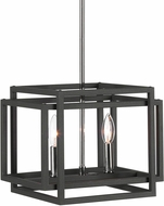 Uttermost 21529 Quadrangle Contemporary Black & Polished Nickel Mini Drop Ceiling Lighting