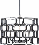 Uttermost 21530 Becton Modern Matte Black & Polished Nickel Ceiling Light Pendant