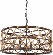 Uttermost 21534 Hilo Oil Rubbed Bronze Drum Drop Ceiling Light Fixture
