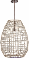 Uttermost 21535 Cross Natuarl Woven Sea Grass Drop Lighting Fixture
