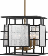 Uttermost 21543 Holmes Modern Black and Antique Brass Hanging Light