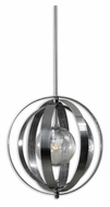 Uttermost 21938 Trofarello Polished Nickel 19 Inch Diameter Modern Drop Lighting With Globe