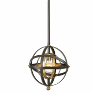 Uttermost 22039 Rondure Modern Dark Oil Rubbed Bronze Finish 52  Tall Pendant Lamp