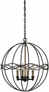 Uttermost 22098 Onduler Dark Bronze / Antique Brass Hanging Lamp
