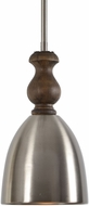 Uttermost 22117 Luna Modern Spun Aluminum With Antique Fleck & Grey Washed Wood Mini Pendant Light