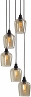 Uttermost 22119 Aarush Modern Oil Rubbed Bronze Multi Pendant Lamp