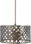Uttermost 22123 Grata Aged Brass Drum Lighting Pendant
