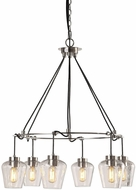Uttermost 22140 Akron Modern Nickel Chandelier Lighting