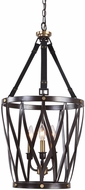 Uttermost 22148 Marlandin Contemporary Oil Rubbed Bronze With Antique Brass Accents Foyer Lighting Fixture
