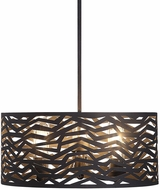 Uttermost 22156 Cypress Contemporary Black Drum Hanging Lamp