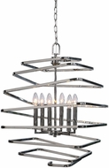 Uttermost 22164 Coillir Contemporary Polished Nickel Hanging Pendant Light