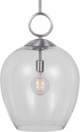 Uttermost 22169 Calix Contemporary Brushed Nickel Pendant Light