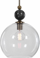 Uttermost 22176 Mendota Contemporary Oxidized Aged Brass Pendant Lamp