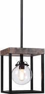 Uttermost 22183 Pearsall Modern Textured Black Foyer Light Fixture