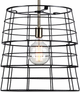 Uttermost 22184 Grader Contemporary Oil Rubbed Bronze / Antique Brass Foyer Lighting Fixture