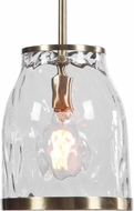Uttermost 22187 Crossley Contemporary Antique Brass Mini Hanging Pendant Light
