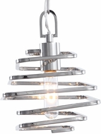 Uttermost 22196 Coillir Contemporary Polished Nickel Mini Drop Ceiling Light Fixture