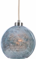 Uttermost 22198 Gemblue Contemporary Brushed Nickel Mini Pendant Light
