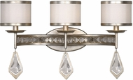 Uttermost 22505 Tamworth Burnished Silver Champagne Leaf 3-Light Lighting For Bathroom