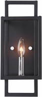 Uttermost 22535 Quadrangle Contemporary Black & Polished Nickel Lighting Sconce