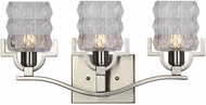 Uttermost 22866 Copeman Contemporary Brushed Nickel Halogen 3-Light Lighting For Bathroom