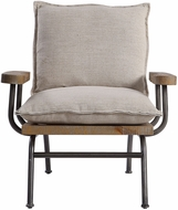 Uttermost 23475 Declan Natural Weathered Oak Declan Industrial Accent Chair
