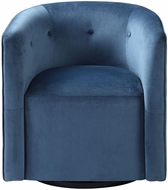 Uttermost 23491 Mallorie Ink Blue Blue Swivel Chair