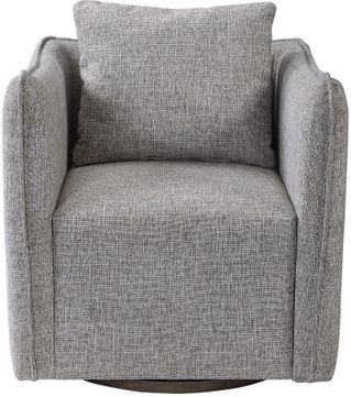 Uttermost 23492 Corben Weathered Gray Stain Gray Swivel Chair