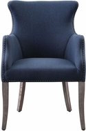 Uttermost 23499 Yareena Weathered Sandstone Blue Wing Chair