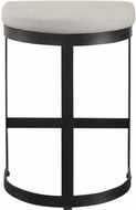 Uttermost 23591 Ivanna Contemporary Matte Black Counter Stool