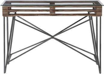 Uttermost 24874 Ryne Modern Industrial Console Table