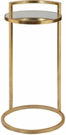 Uttermost 24886 Cailin Contemporary Bright Gold Leaf Gold Accent Table