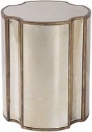 Uttermost 24888 Harlow Modern Antique Brass Mirrored Accent Table